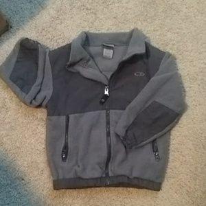 Champion zippered felt jacket EUC